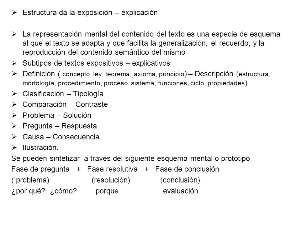 Estructura da la exposición – explicación