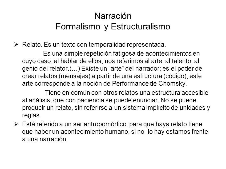 Narración Formalismo y Estructuralismo