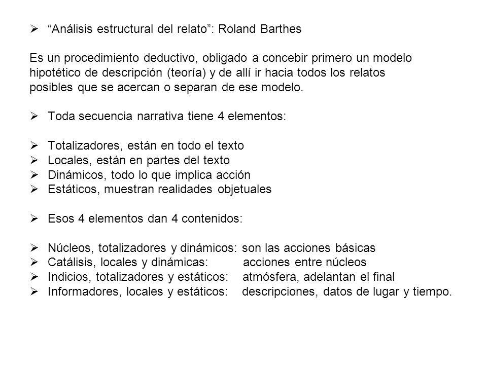 Análisis estructural del relato : Roland Barthes