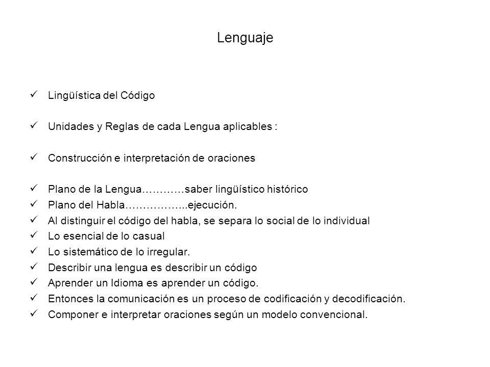 Lenguaje Lingüística del Código