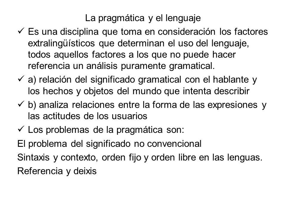 La pragmática y el lenguaje