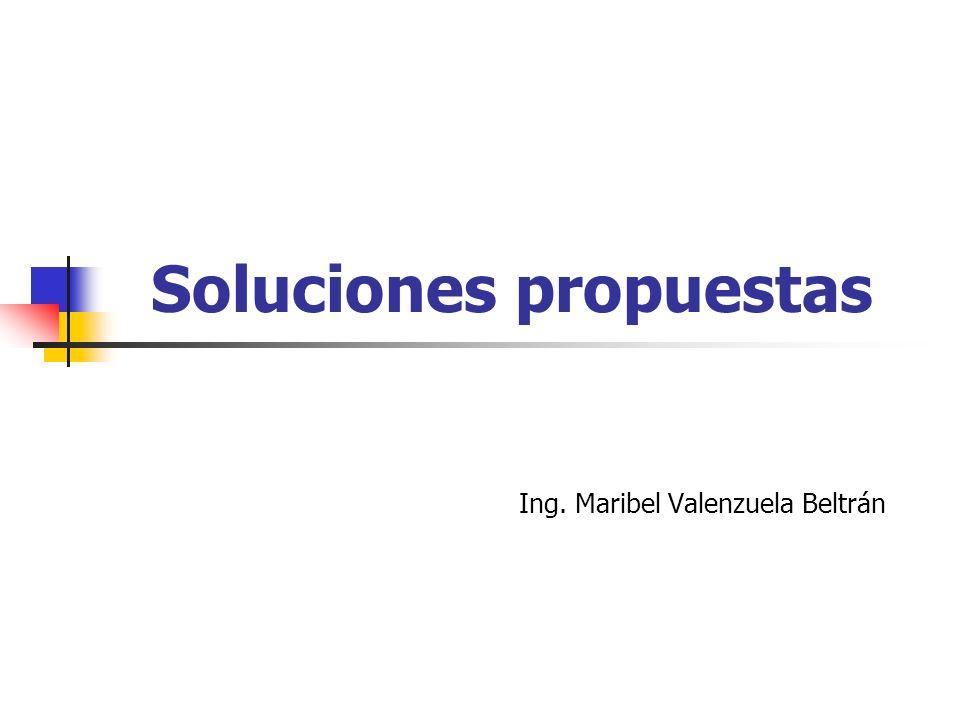 Soluciones propuestas