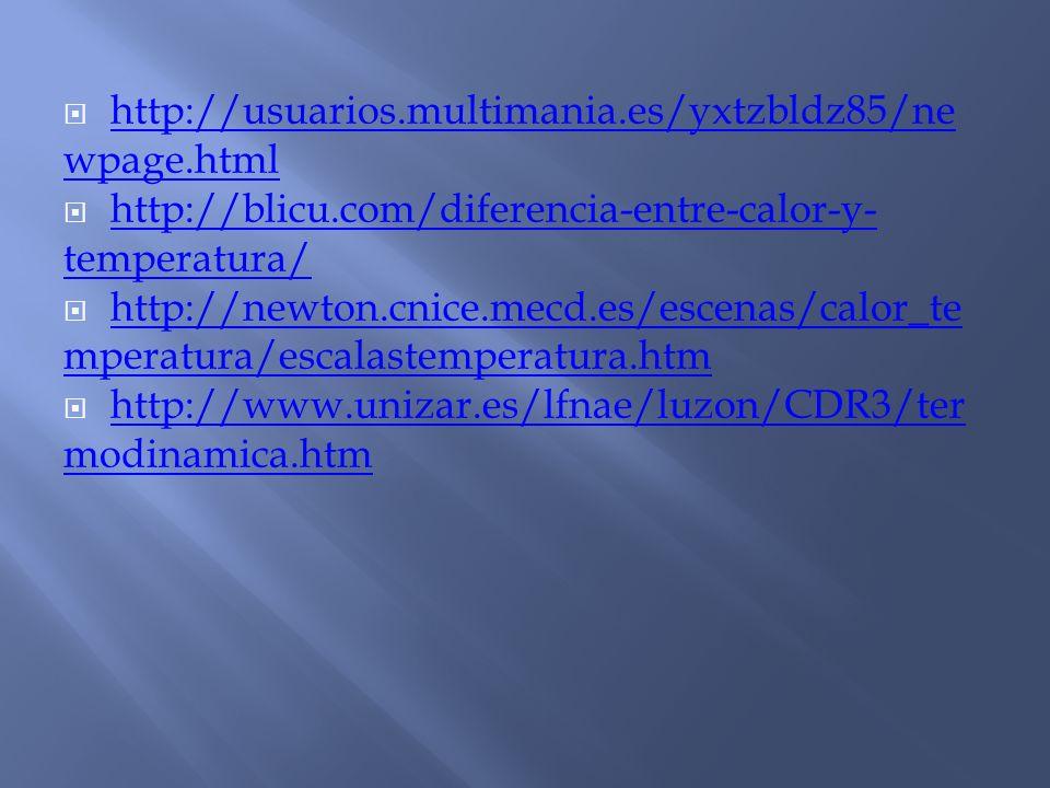 http://usuarios.multimania.es/yxtzbldz85/newpage.html http://blicu.com/diferencia-entre-calor-y-temperatura/