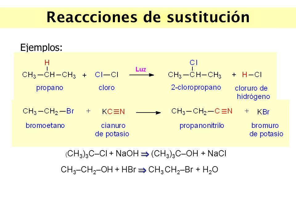 Reaccciones de sustitución