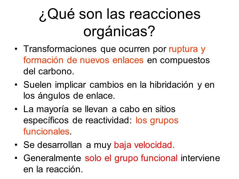 ¿Qué son las reacciones orgánicas