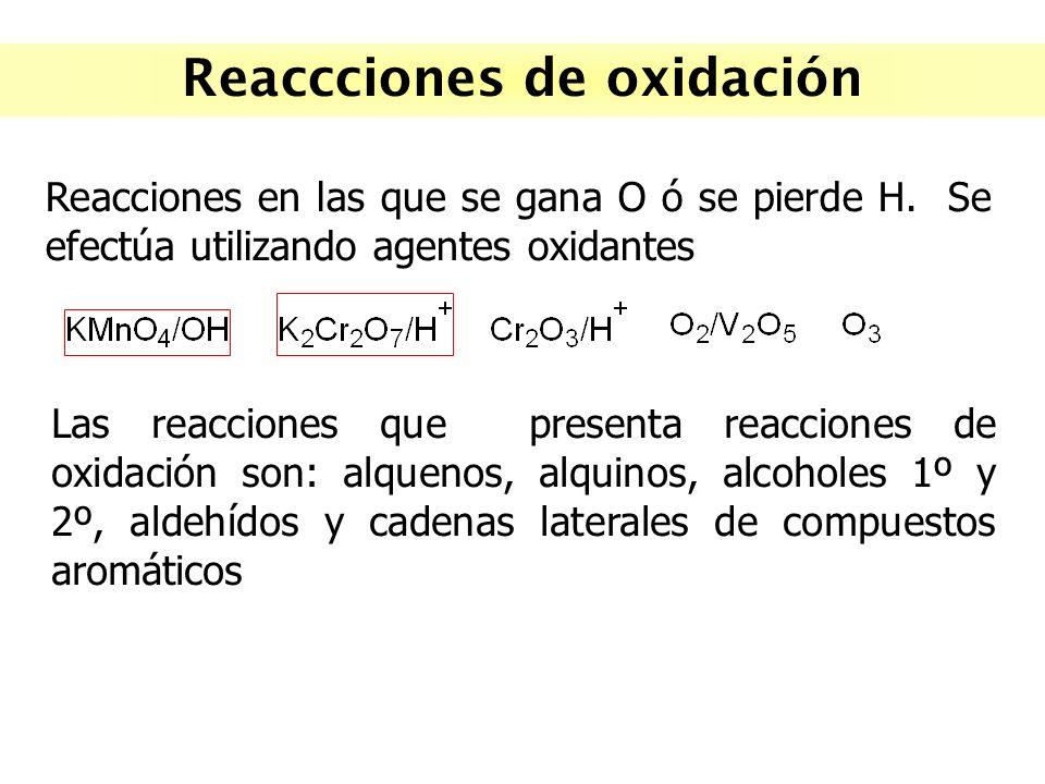 Reaccciones de oxidación