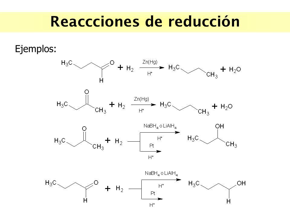Reaccciones de reducción