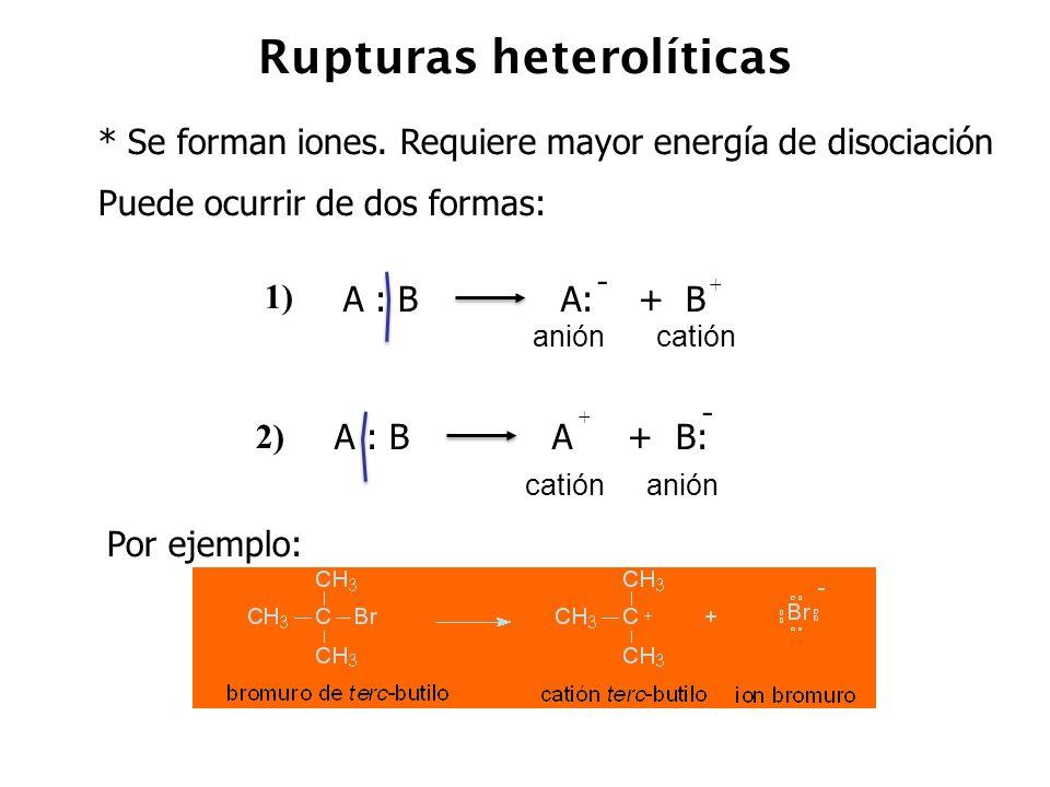 Rupturas heterolíticas