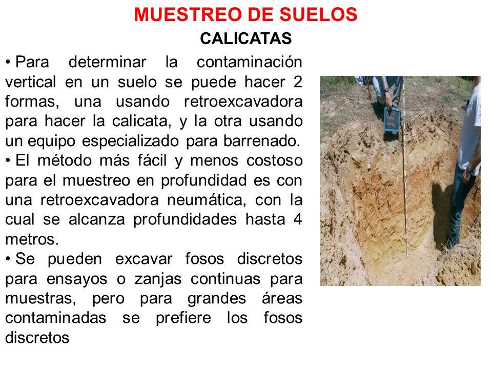 MUESTREO DE SUELOS CALICATAS