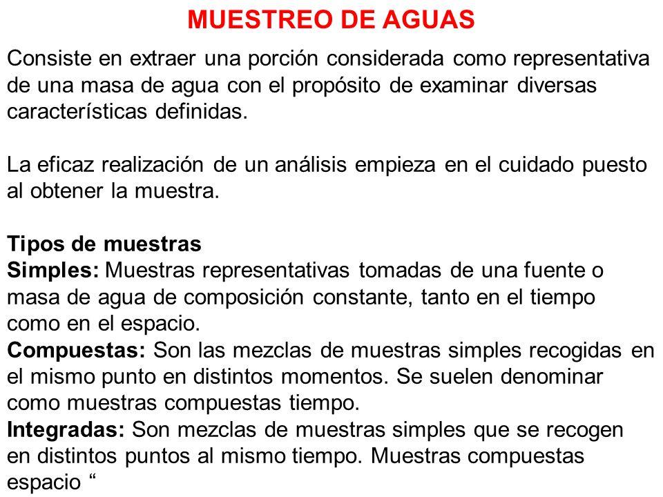 MUESTREO DE AGUAS