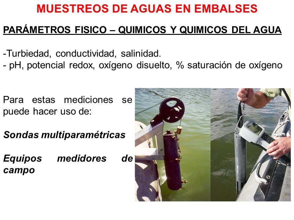 MUESTREOS DE AGUAS EN EMBALSES