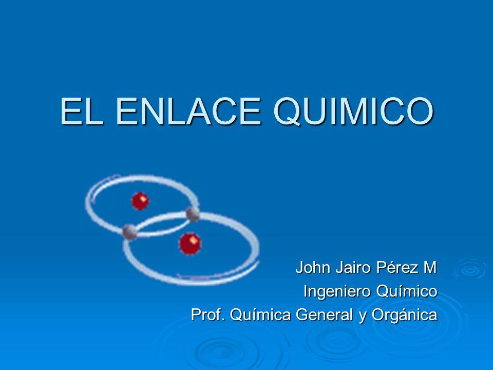 John Jairo Pérez M Ingeniero Químico Prof. Química General y Orgánica
