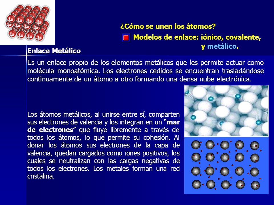 ¿Cómo se unen los átomos