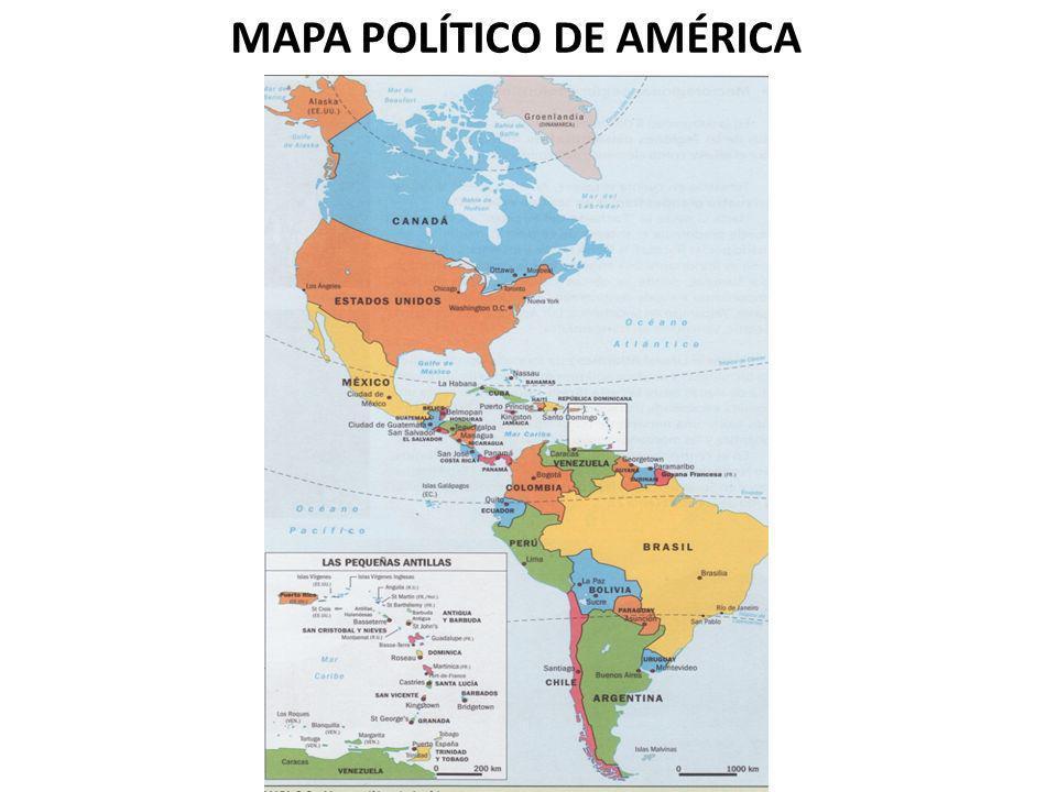 MAPA POLÍTICO DE AMÉRICA