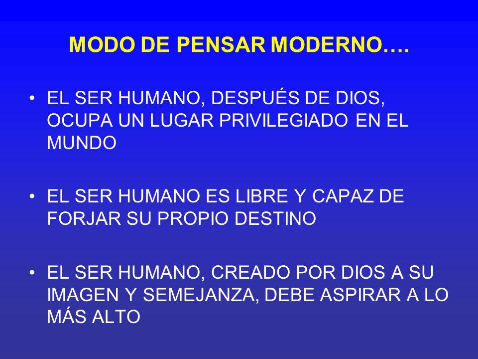 MODO DE PENSAR MODERNO….