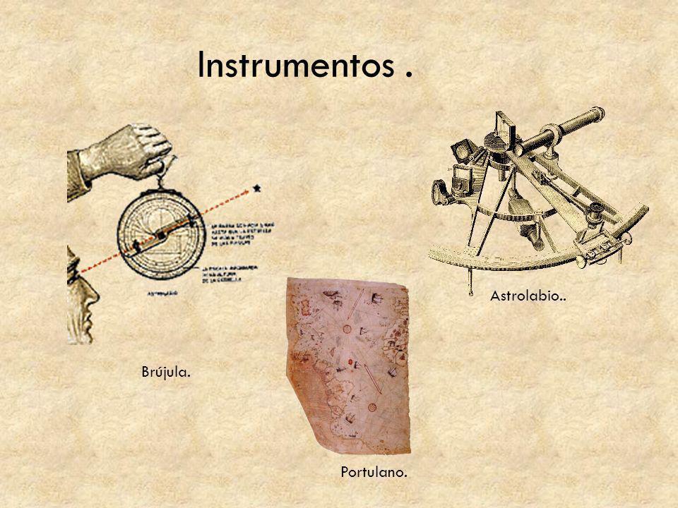 Instrumentos . Astrolabio.. Brújula. Portulano.