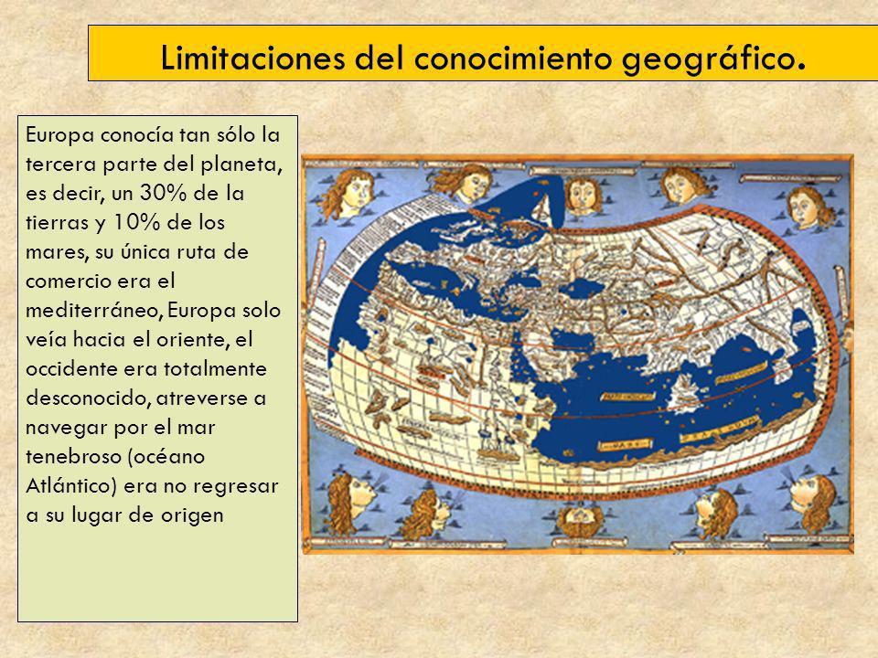 Limitaciones del conocimiento geográfico.