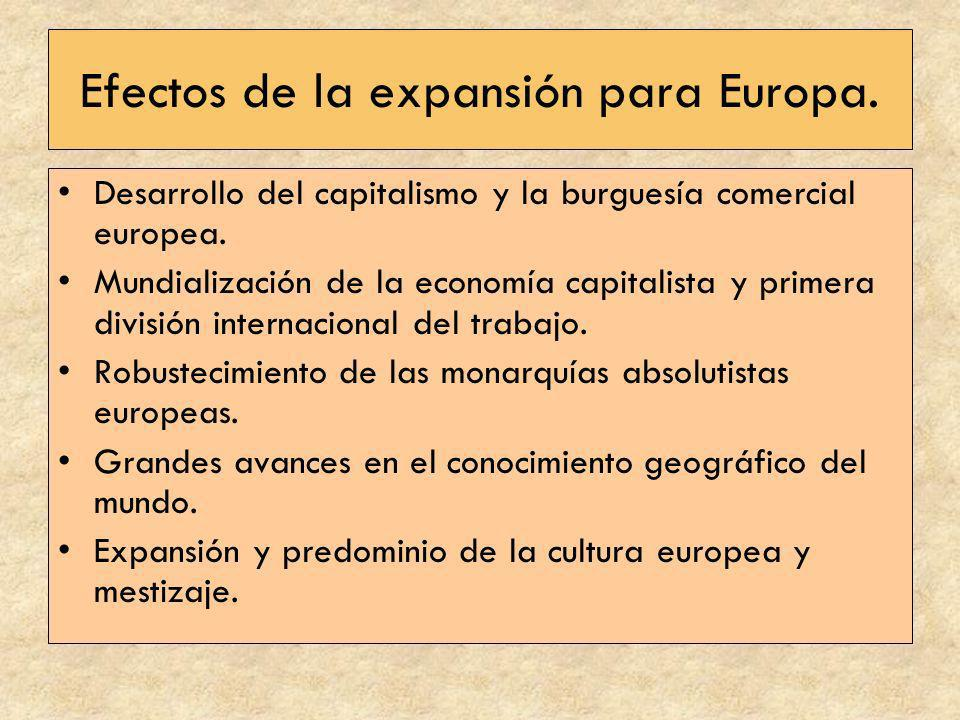 Efectos de la expansión para Europa.