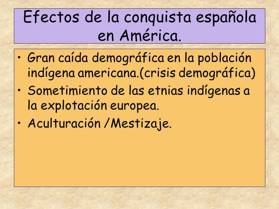 Efectos de la conquista española en América.