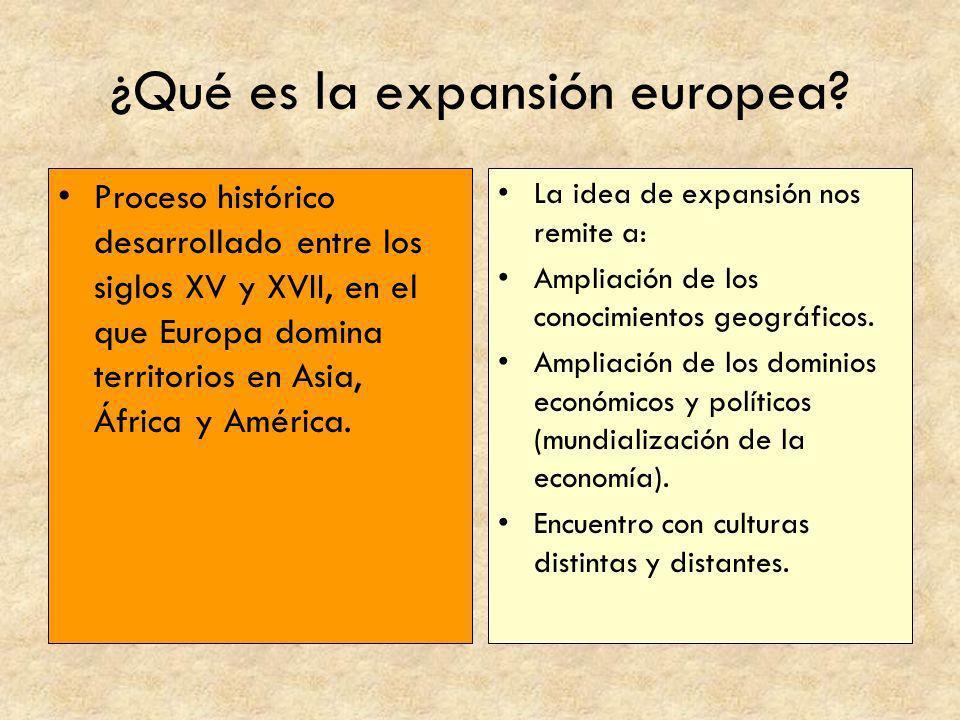 ¿Qué es la expansión europea