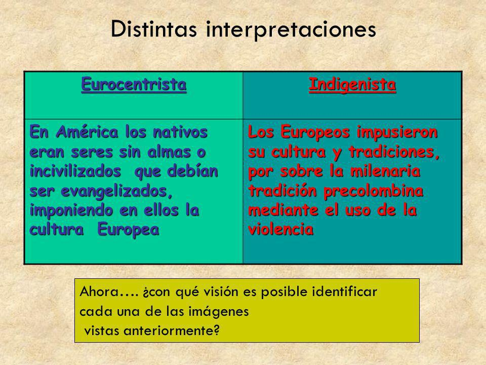 Distintas interpretaciones