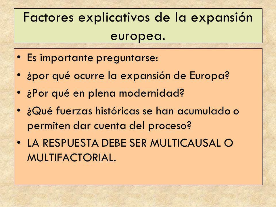 Factores explicativos de la expansión europea.