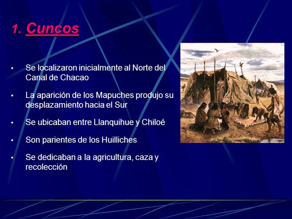 Cuncos Se localizaron inicialmente al Norte del Canal de Chacao