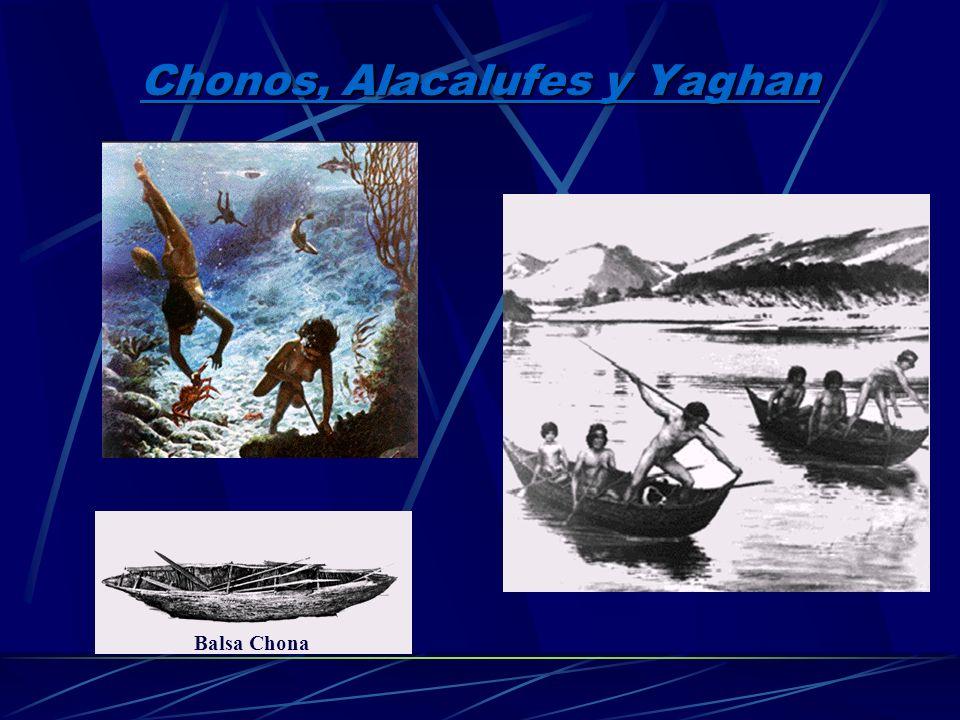 Chonos, Alacalufes y Yaghan
