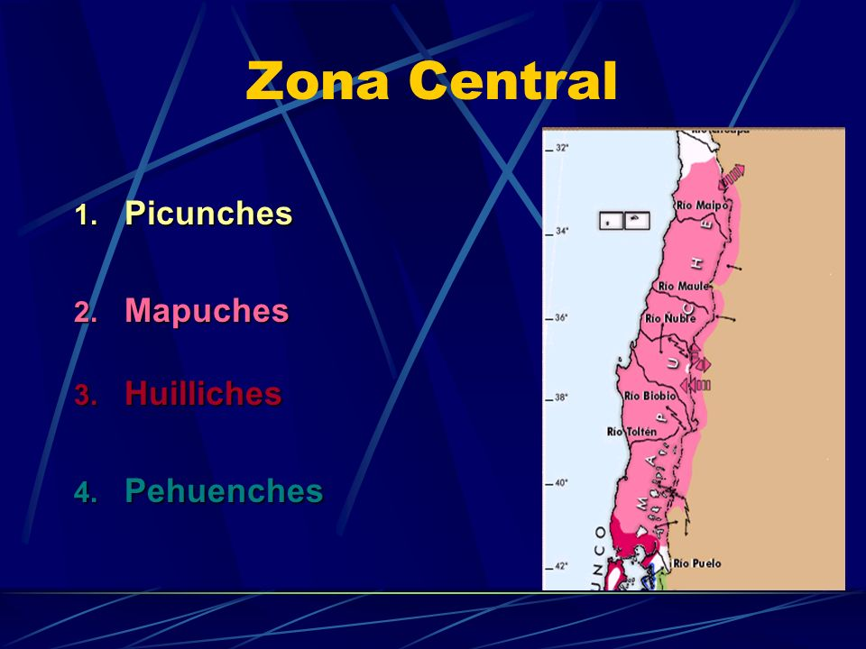 Zona Central Picunches Mapuches Huilliches Pehuenches