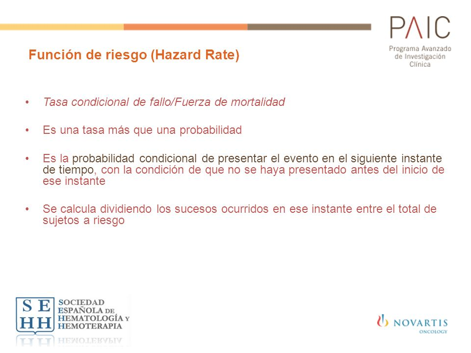 Función de riesgo (Hazard Rate)
