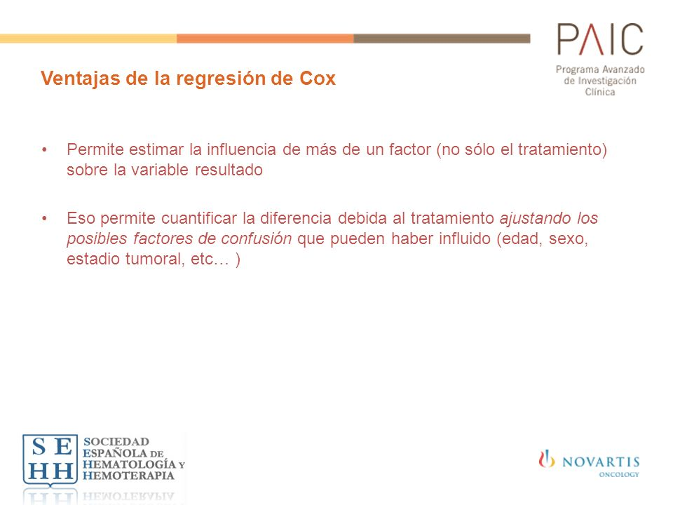 Ventajas de la regresión de Cox
