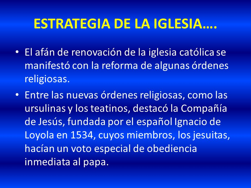 ESTRATEGIA DE LA IGLESIA….