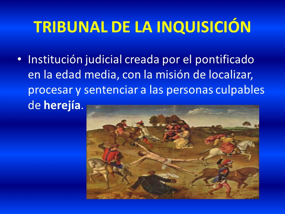 TRIBUNAL DE LA INQUISICIÓN