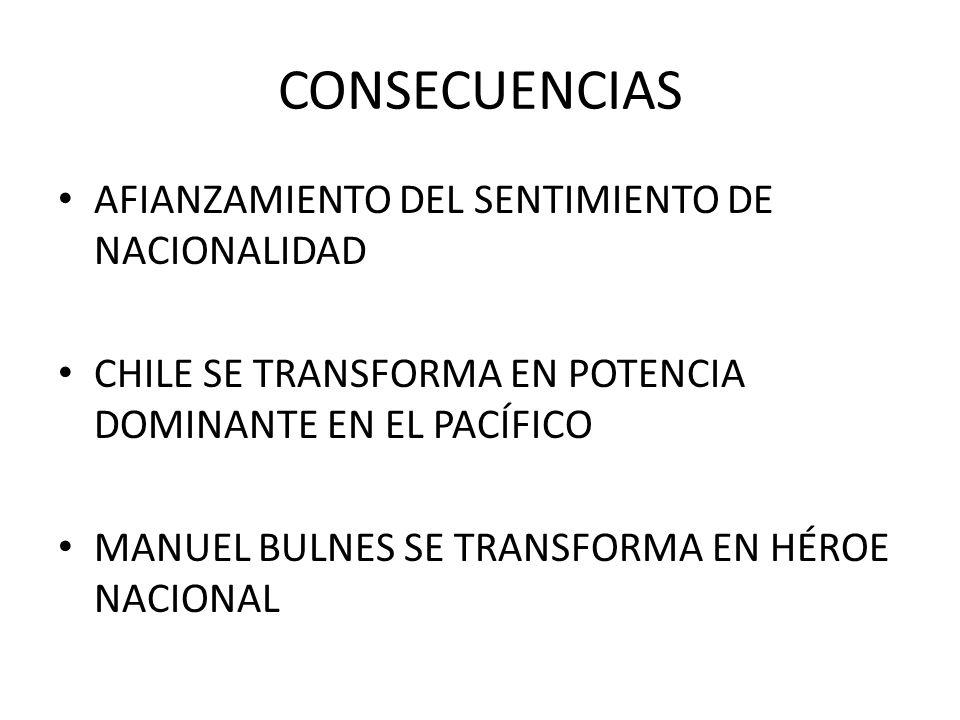 CONSECUENCIAS AFIANZAMIENTO DEL SENTIMIENTO DE NACIONALIDAD