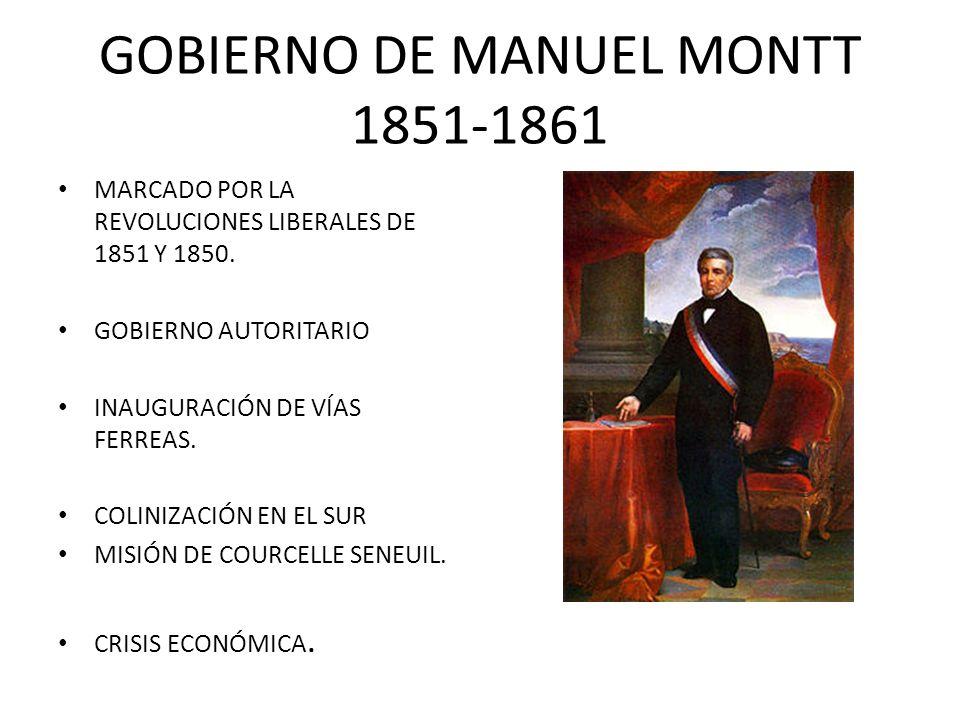 GOBIERNO DE MANUEL MONTT 1851-1861