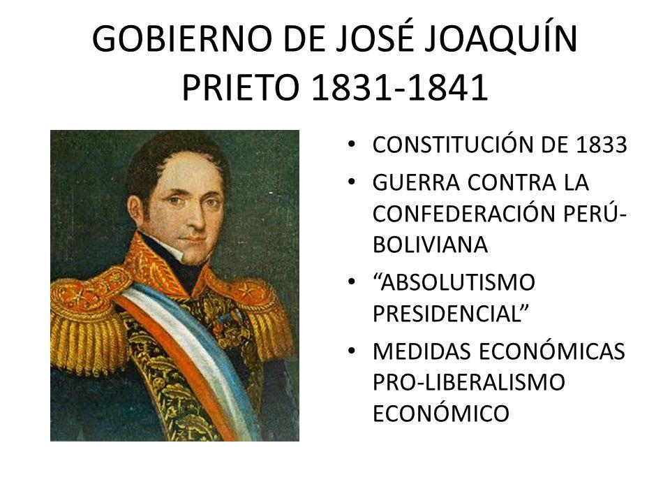 GOBIERNO DE JOSÉ JOAQUÍN PRIETO 1831-1841