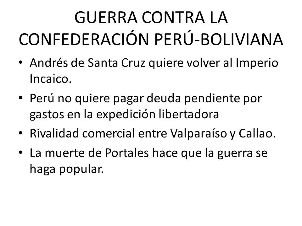 GUERRA CONTRA LA CONFEDERACIÓN PERÚ-BOLIVIANA