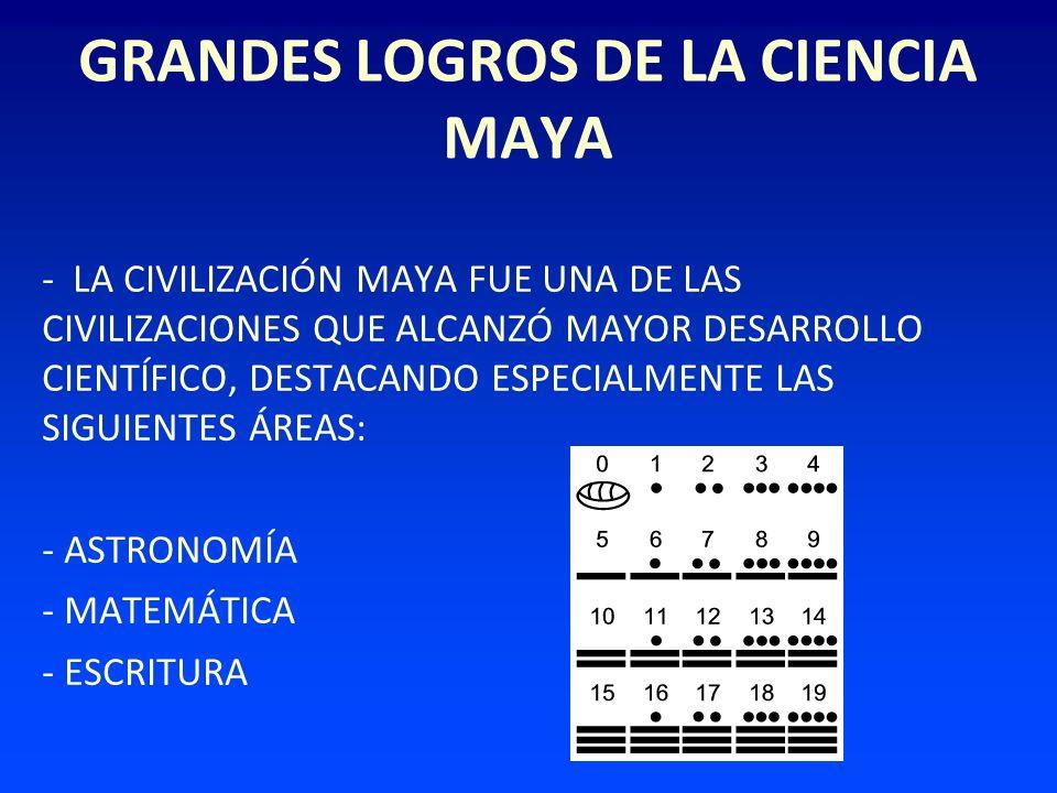 GRANDES LOGROS DE LA CIENCIA MAYA