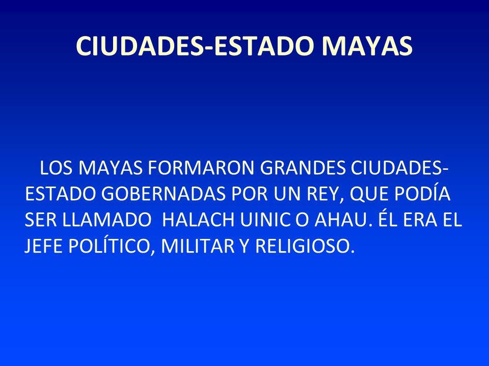 CIUDADES-ESTADO MAYAS