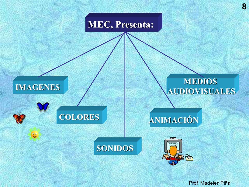MEC, Presenta: MEDIOS IMAGENES AUDIOVISUALES COLORES ANIMACIÓN SONIDOS