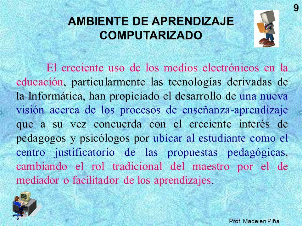 AMBIENTE DE APRENDIZAJE COMPUTARIZADO