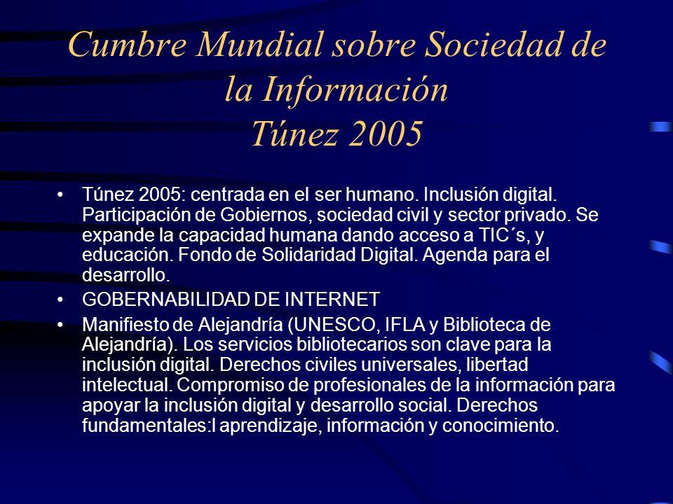 Cumbre Mundial sobre Sociedad de la Información Túnez 2005