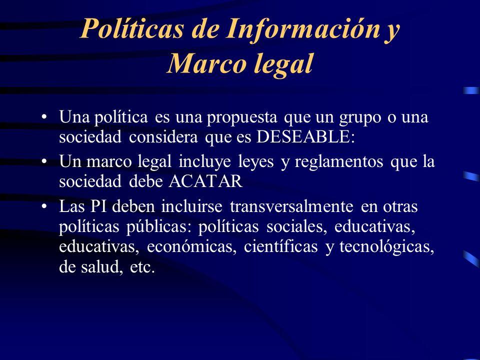 Políticas de Información y Marco legal