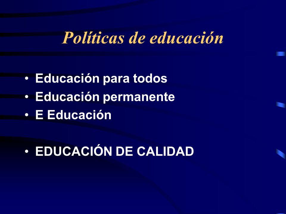 Políticas de educación
