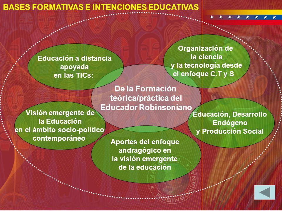 De la Formación teórica/práctica del Educador Robinsoniano