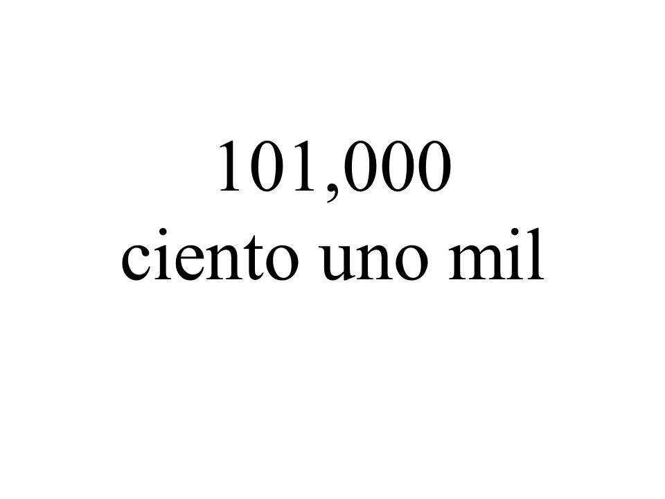 101,000 ciento uno mil