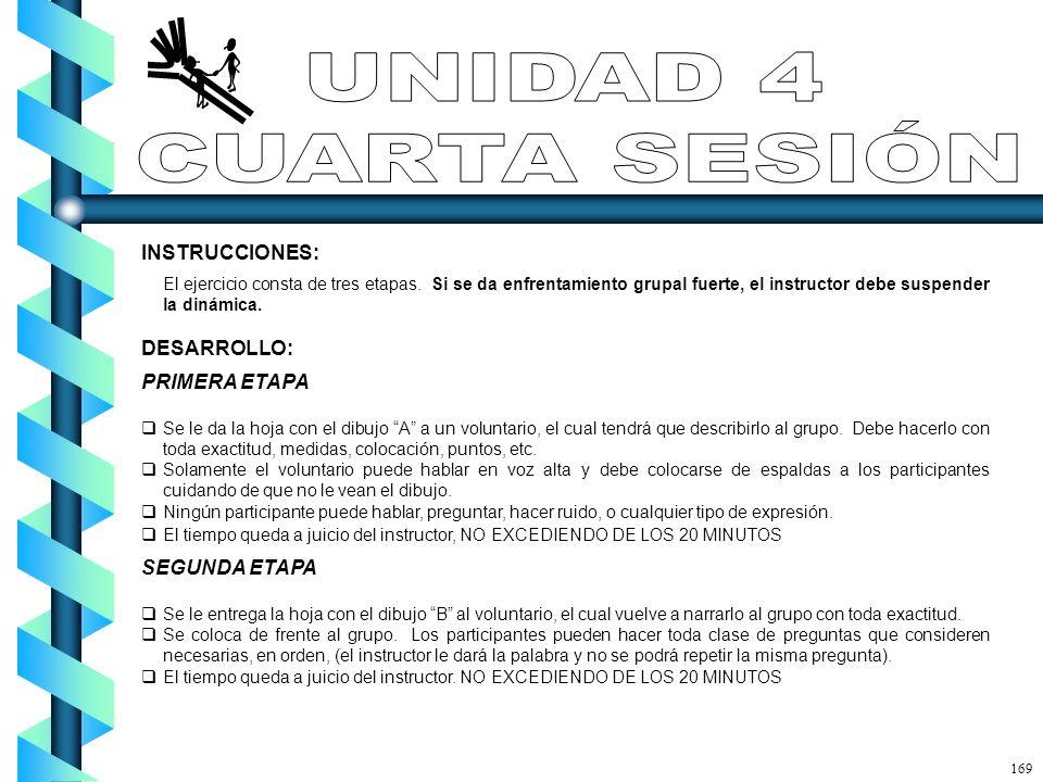 UNIDAD 4 CUARTA SESIÓN INSTRUCCIONES: DESARROLLO: PRIMERA ETAPA