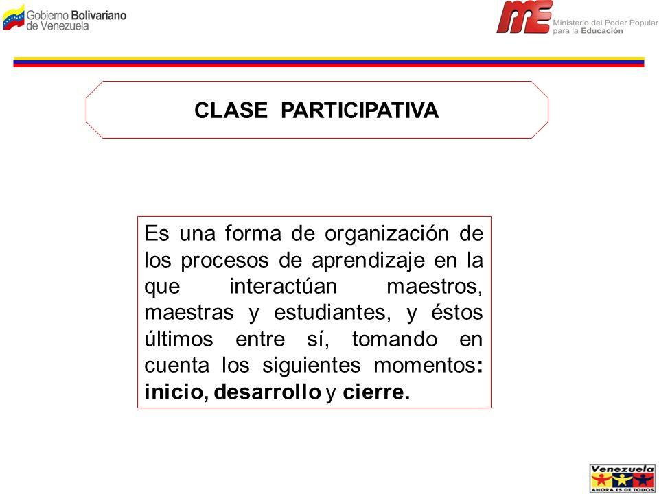 CLASE PARTICIPATIVA