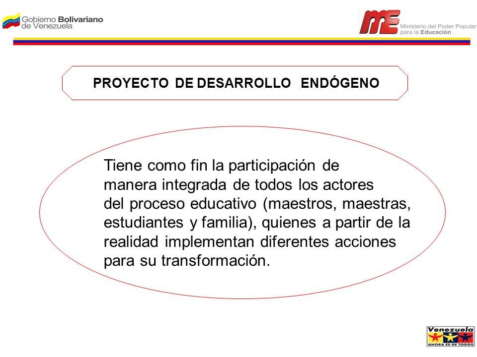 PROYECTO DE DESARROLLO ENDÓGENO
