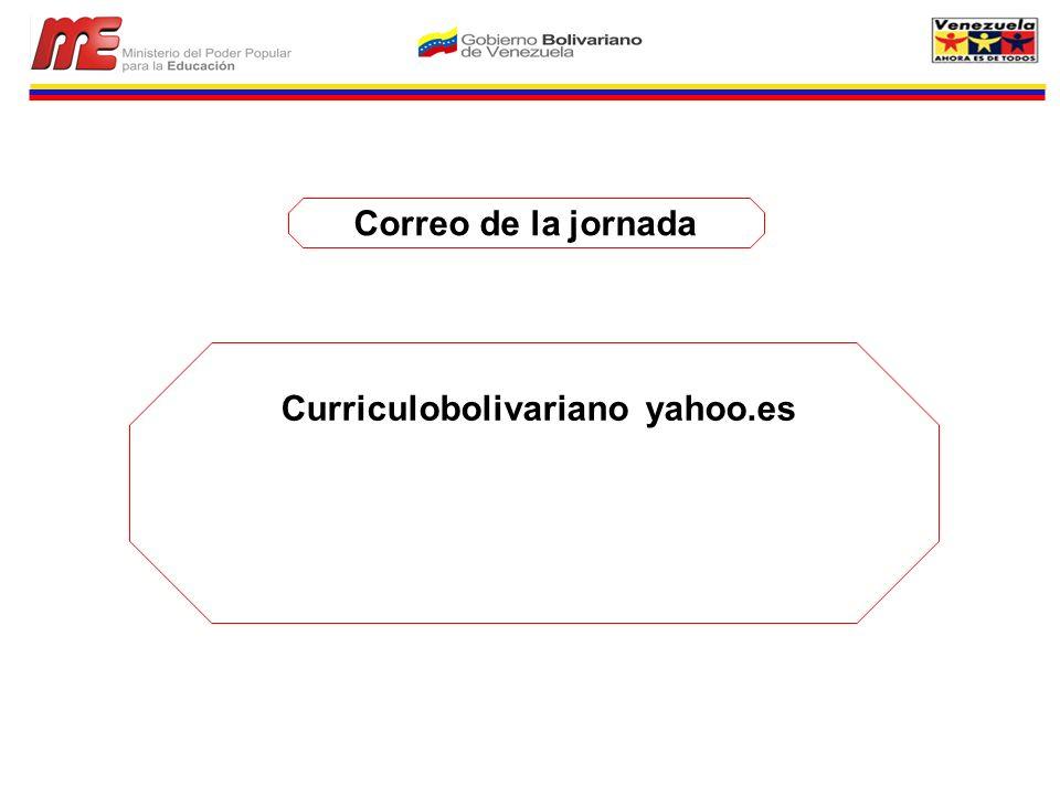 Curriculobolivariano yahoo.es